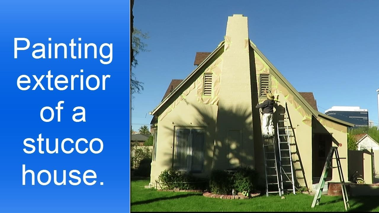 Preparation work and spray painting of exterior stucco house youtube - Painting preparation exterior photos ...