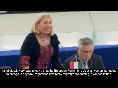 Krisztina Morvai, Member of the European Parliament (from Hungary), on migration and related issues