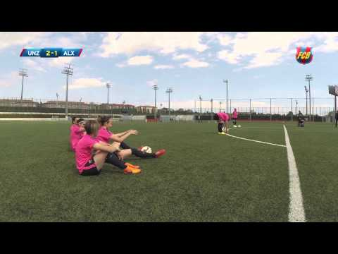 Skills FC Barcelona femení: Hit the crossbar
