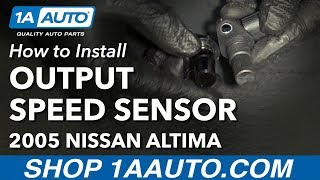 How to Install Replace Automatic Transmission Output Revolution Speed Sensor 2002-06 Nissan Altima