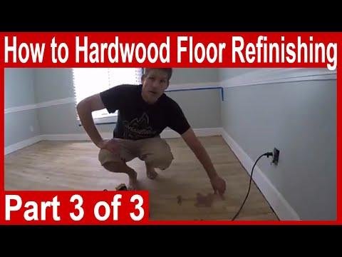 How to hardwood floor refinishing