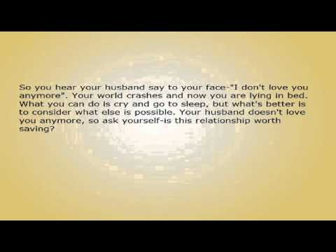 what to do when you don t love your husband