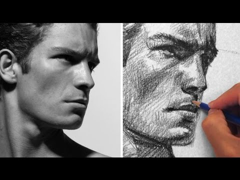 How to draw a male face youtube
