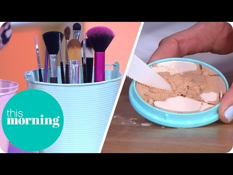 Beauty Life Hacks - Repair A Broken Powder And Organise Your Brushes | This Morning