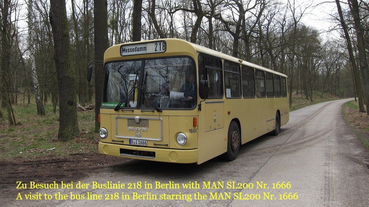 man sl200 auf der buslinie 218 in berlin hd youtube. Black Bedroom Furniture Sets. Home Design Ideas