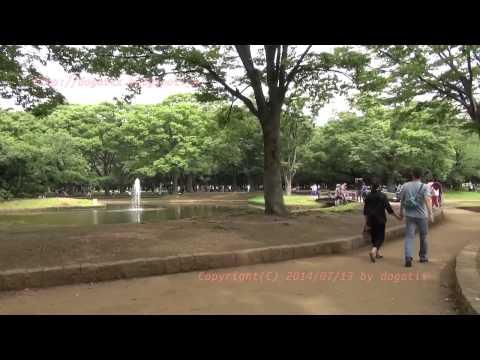Japan Trip 2014 Tokyo Shibuya Yoyogi-park Stroll around the fountain.