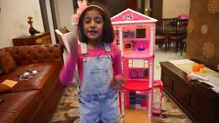 My Barbie DREAMHOUSE!! - Unboxing & Tour | MyMissAnand