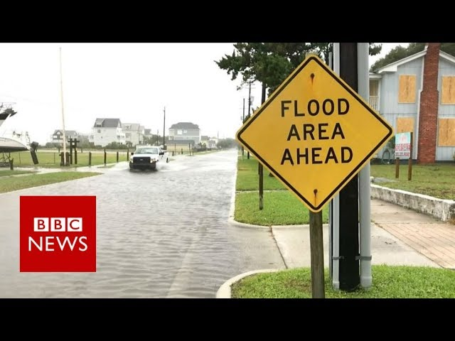 Hurricane Florence: What it's like as the storm sets in - BBC News