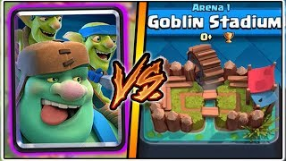 GOBLIN GIANT TROLLING ARENA 1 IN CLASH ROYALE   FUNNY MOMENTS & GOBLIN GIANT GAMEPLAY!