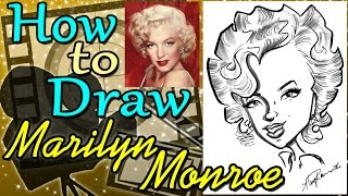 How To Draw A Quick Caricature Marilyn Monroe