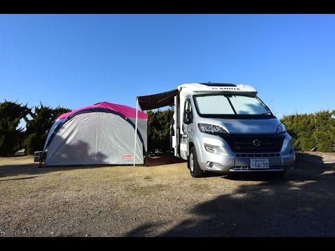 [車中泊]キャンピングカーでオートキャンプ/九十九里浜オートキャンプ場太陽と海