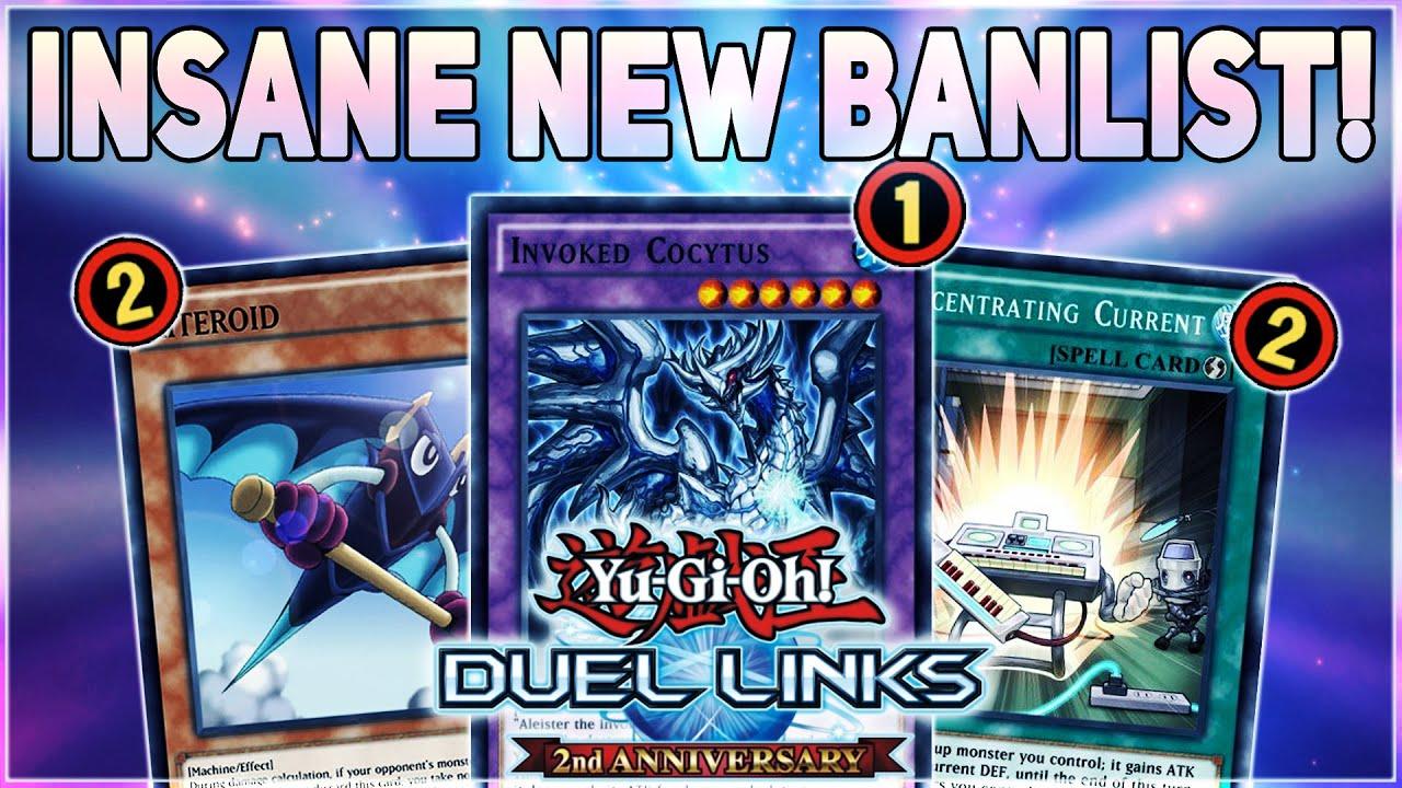 Yugioh Ban List 2020.Yu Gi Oh Duel Links New Banlist Invoked Blackwings Hit Koa Ki Meiru Kiteroid Spellbooks