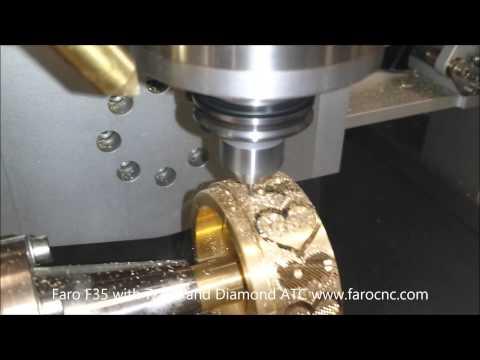 Faro F35 CNC making an Hearts Bangle