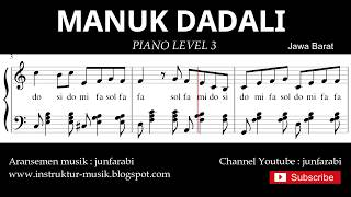 notasi balok manuk dadali - piano grade 3 - lagu daerah jawa barat - instrumental