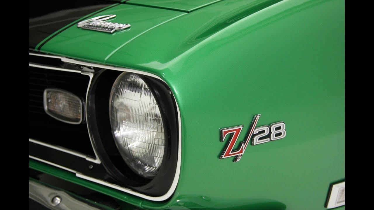 2015 Camaro Convertible >> 1968 Green Camaro Z28 - YouTube