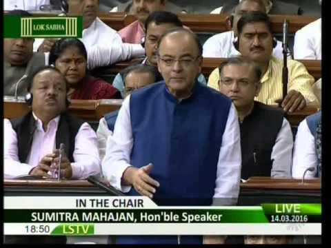 Shri Arun Jaitley's reply on discussion on the General budget 2016-2017, 14.03.2016