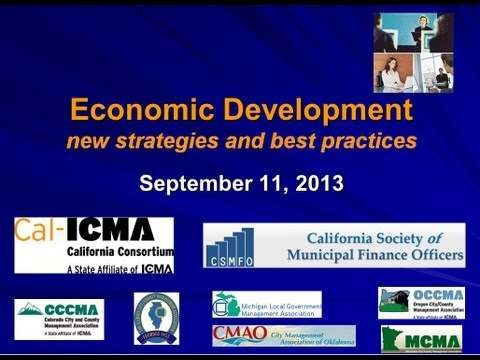 Economic Development --  new strategies and best practices