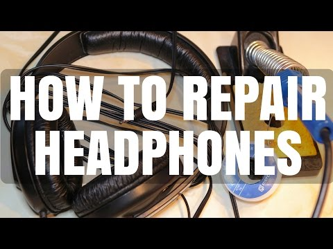 How to Repair Broken Headphone Cable - Sennheiser HD 202 Brief Review