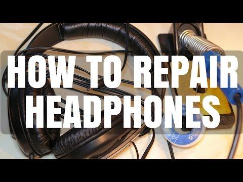 how to repair broken headphone cable - sennheiser hd 202 brief review -  youtube