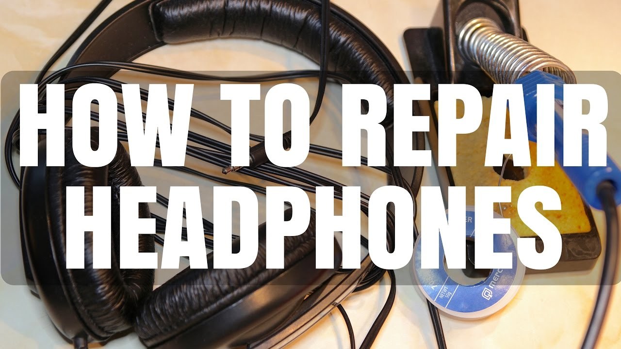 hight resolution of how to repair broken headphone cable sennheiser hd 202 brief review youtube
