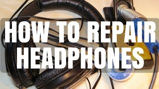 How to Repair Broken Headphone Cable - Sennheiser HD 202 Brief Review