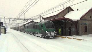 Bitrac Comsa Rail Transport Nieve en La Robla. Pajares. 05-02-2015
