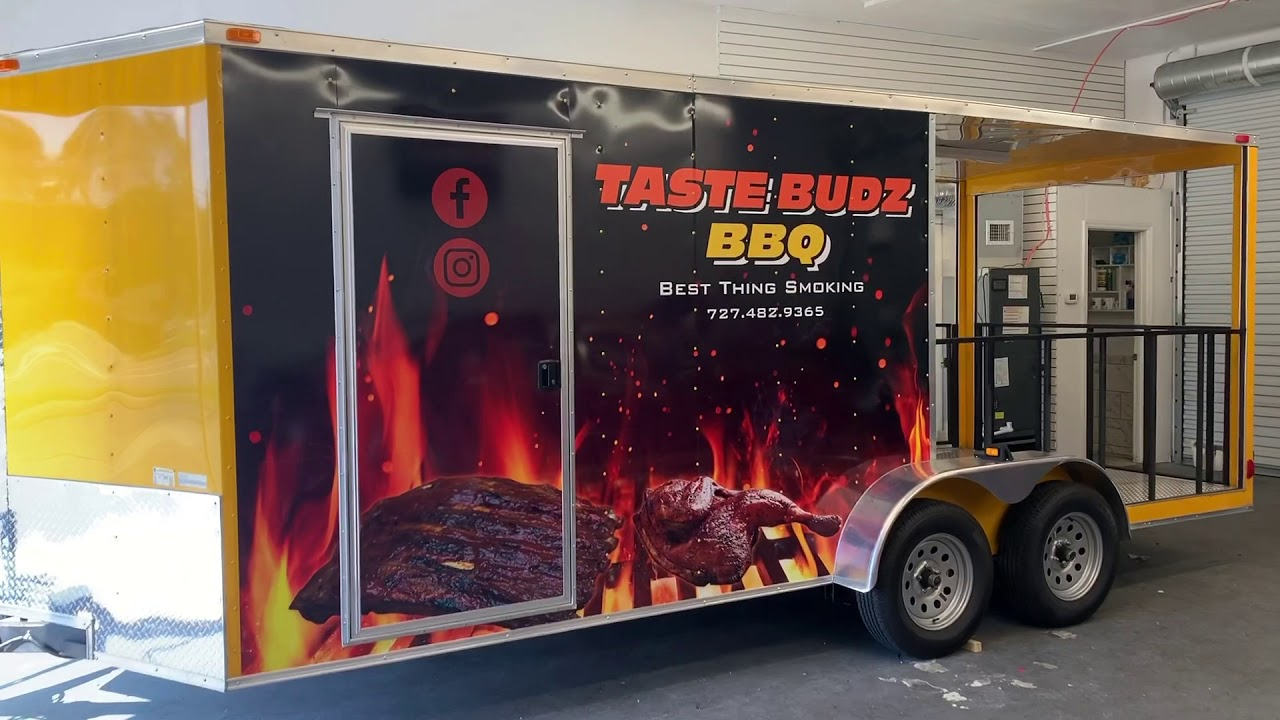 BBQ Trailer Full Wrap by Discount Signs & Wraps