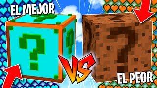 EL MEJOR LUCKY BLOCK de MINECRAFT vs EL PEOR LUCKY BLOCK! 😱💥 LUCKY BLOCKS MINECRAFT MOD