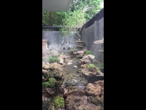 ทดสอบระบบธารน้ำ หินฟองน้ำ