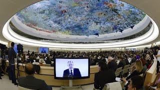 Совет ООН по правам человека начал работу в Женеве (новости)(http://ntdtv.ru/ Совет ООН по правам человека начал работу в Женеве. В понедельник в Женеве открылась 28-я сессия..., 2015-03-02T12:43:27.000Z)