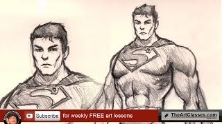 How to draw Superman, Man of Steel