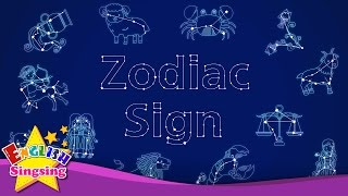 Kids vocabulary - Zodiac sign - 12 Zodiac signs - star signs - English educational video