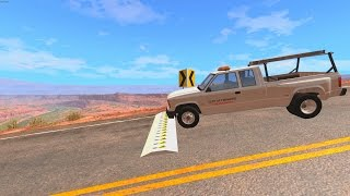 Spike Strip Testing 13 - BeamNG.Drive Car Accident
