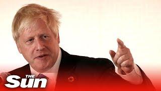 Boris Johnson: 'we will not be deterred!'
