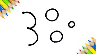नंबर से लड़की बनाने का सबसे आसान तरीका how draw girl from 300 number step by step doodle art