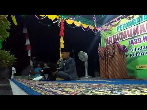 Qori cilik Aceh Besar, malam puncak Maulid di Desa Cot Beut