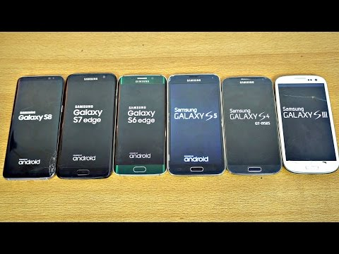 Samsung Galaxy S8 vs S7 vs S6 vs S5 vs S4 vs S3 - Speed Test! (4K)