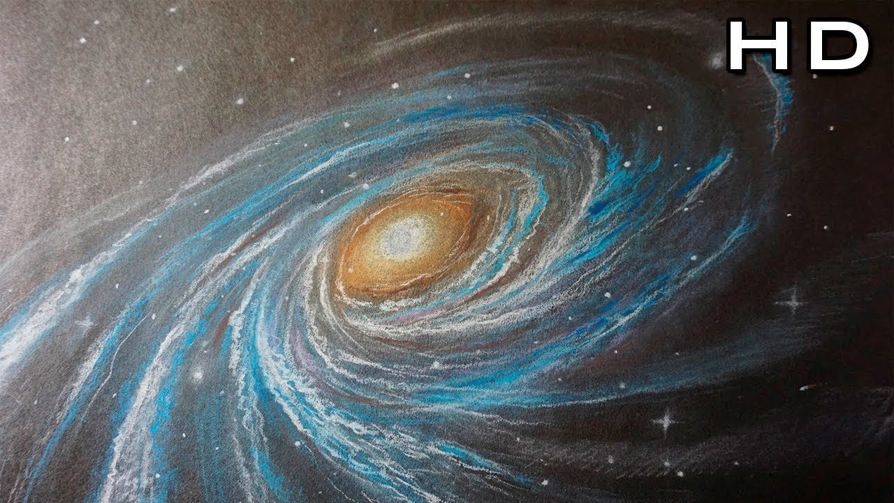 How To Draw A Galaxy With Colored Pencil Step By Step Youtube