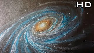 How to Draw a Galaxy with Colored Pencil Step by Step