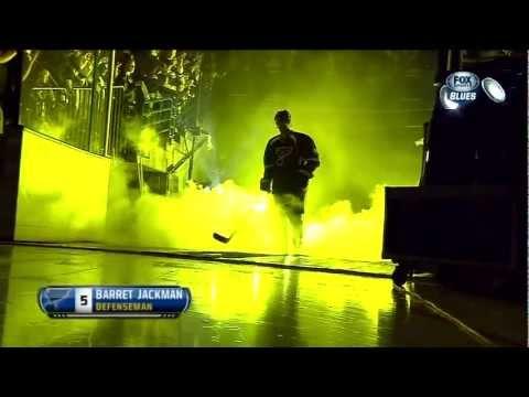 2013 St. Louis Blues 1st game intros & trophy presentation. NHL hockey