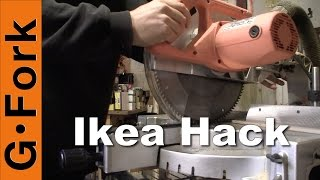 Ikea Hack Rolling Chop Saw Table - Gardenfork.tv