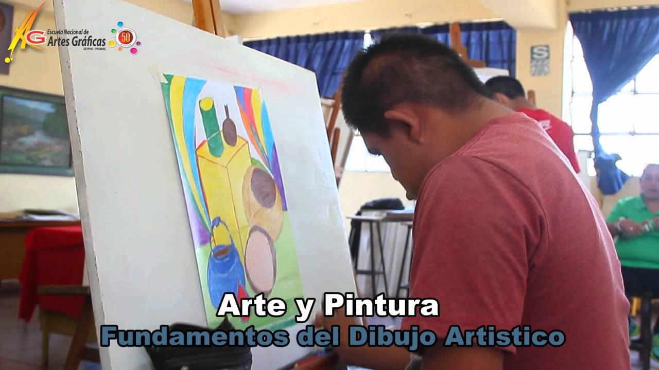 dibujo y pintura en la escuela de artes grficas  YouTube