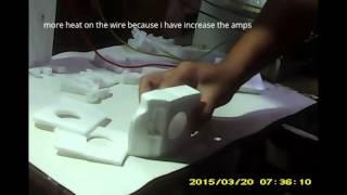 Alat pemotong styrofoam dari senar gitar yang power full