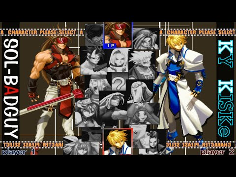 Guilty Gear X Opening and All Characters [PS2]