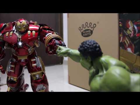 AOU -GO TO SLEEP SCENE ! 1/9 Hulkbuster With Jackhammer Arm By King Arts !