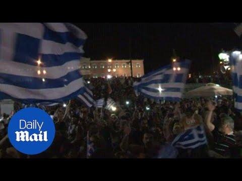 'We choose democracy!': Greece celebrates a 'no' referendum - Daily Mail