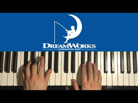 How To Play - DreamWorks Intro (PIANO TUTORIAL LESSON)
