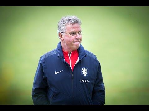 Persconferentie bondscoach Hiddink in aanloop naar duel met VS