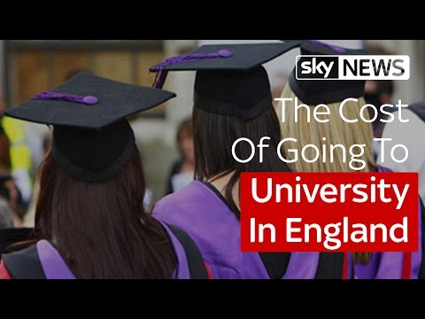 The Cost Of Going To University In England