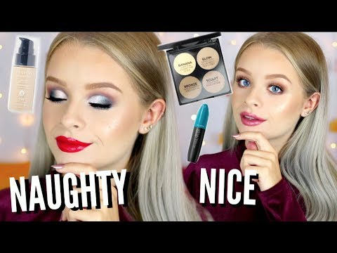 DRUGSTORE CHRISTMAS MAKEUP TUTORIAL - NAUGHTY AND NICE AD | sophdoesnails